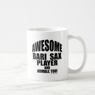 Awesome Bari Sax Player Basic White Mug