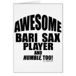 Awesome Bari Sax Player Greeting Card