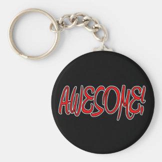 AWESOME! BASIC ROUND BUTTON KEY RING