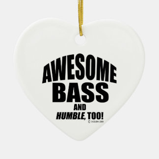 Awesome Bass Christmas Ornament