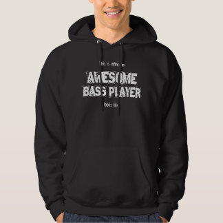 Awesome bass player statement slogan hoodie