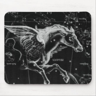 awesome beautiful mystic flying wings horse mouse pad