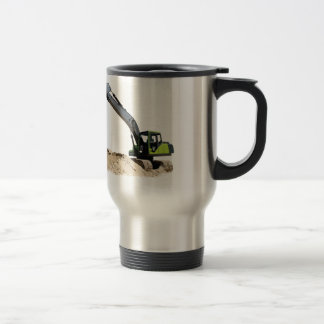 Awesome Big Green Construction Excavator #4 Stainless Steel Travel Mug
