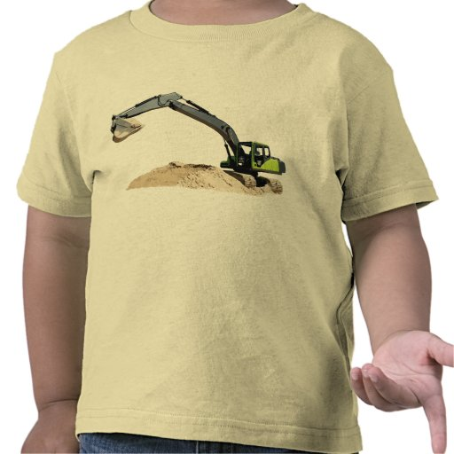 Awesome Big Green Construction Excavator #4 T Shirt