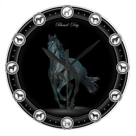 Awesome Black Horse Clocks .