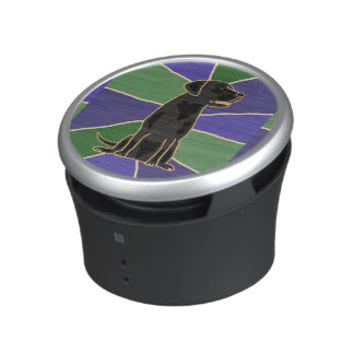 Awesome Black Labrador Art Bluetooth Speaker