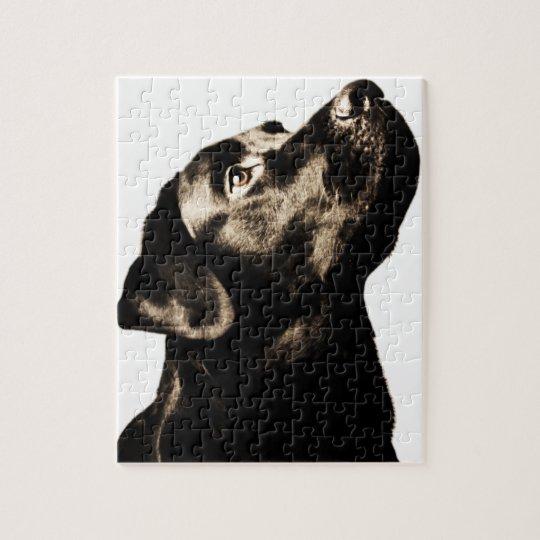 Awesome Black Labrador Retriever Jigsaw Puzzle