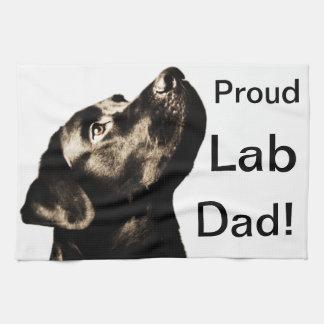 Awesome Black Labrador Retriever Tea Towel
