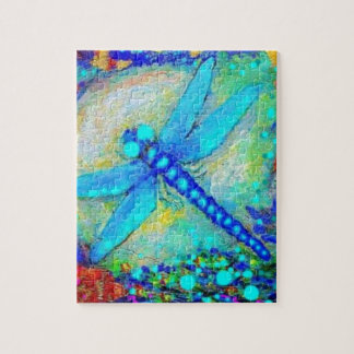 Awesome Blue Dragonfly by Sharles Jigsaw Puzzle