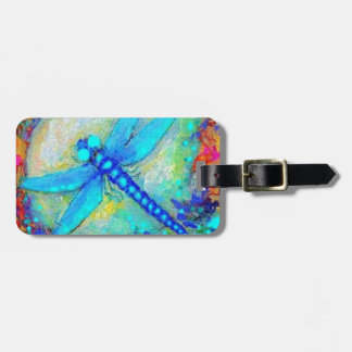 Awesome Blue Dragonfly by Sharles Luggage Tag