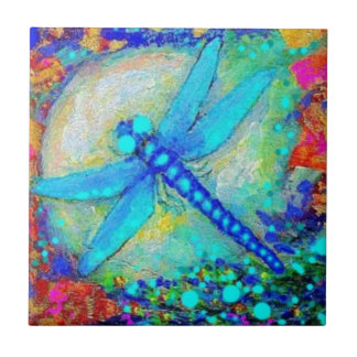 Awesome Blue Dragonfly by Sharles Tile