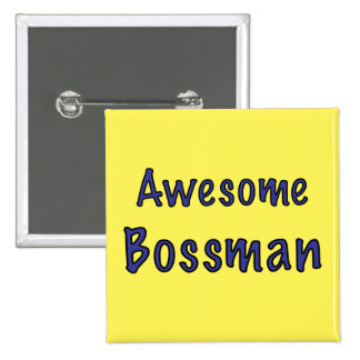 Awesome Bossman 15 Cm Square Badge