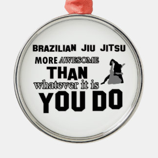 Awesome brazilian jiu jitsu design christmas ornament