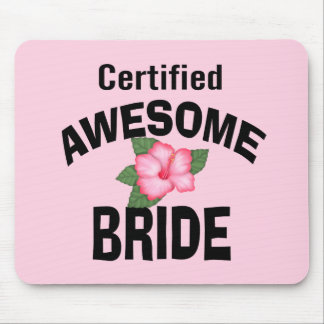 Awesome Bride Mouse Pads