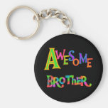 Awesome Brother T-shirts and Gifts Basic Round Button Key Ring