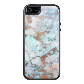 Awesome Brown And Blue Marble Stone OtterBox iPhone 5/5s/SE Case