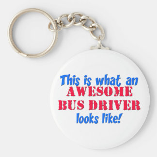Awesome Bus Driver Basic Round Button Key Ring