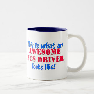 Awesome Bus Driver Two-Tone Mug