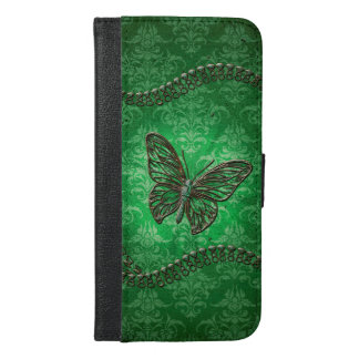 Awesome butterflies made of diamond iPhone 6/6s plus wallet case