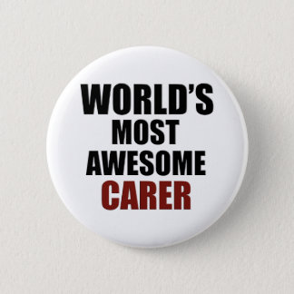 Awesome CARER designs 6 Cm Round Badge
