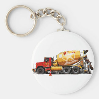 Awesome Cement Truck #6 Basic Round Button Key Ring