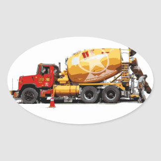 Awesome Cement Truck #6 Oval Sticker