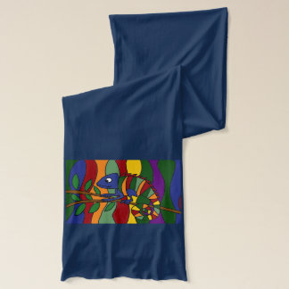 Awesome Chameleon Art Scarf