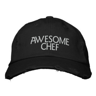 Awesome Chef Embroidered Baseball Caps