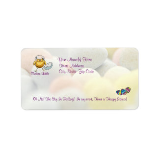 Awesome Chicken Little The Sky Is Falling Address Label