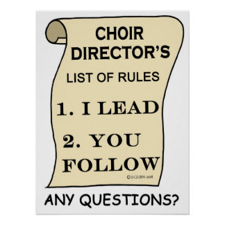 Awesome Choir Director Poster