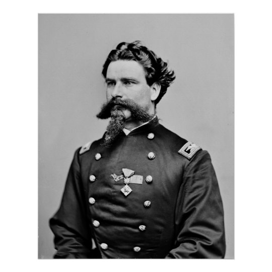 Awesome Civil War Goatee, 1860s Poster