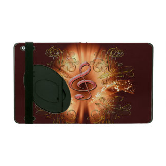 Awesome clef with light effects iPad folio case