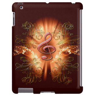 Awesome clef with light effects iPad case