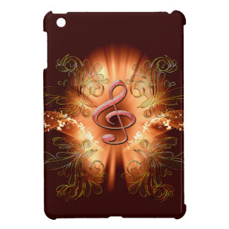 Awesome clef with light effects iPad mini cover