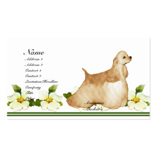 Awesome Cockers Spaniel Pack Of Standard Business Cards