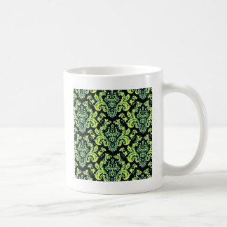 Awesome Colorful Damask Design on Black Coffee Mug