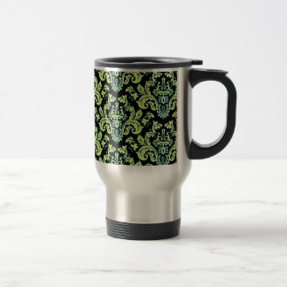 Awesome Colorful Damask Design on Black Mug