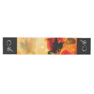 Awesome colorful leaves medium table runner