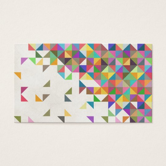 Awesome colourful retro geometric pattern business card