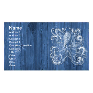 awesome cool Antique effect white octopus Pack Of Standard Business Cards