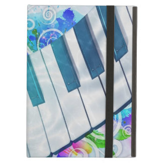 Awesome cool blue circular  piano light effect iPad air covers