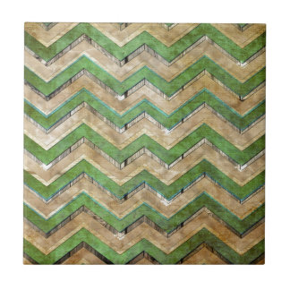 Awesome cool chevron zigzag pattern small square tile