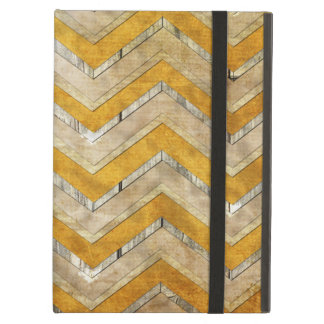 Awesome cool chevron zigzag pattern wood marble case for iPad air