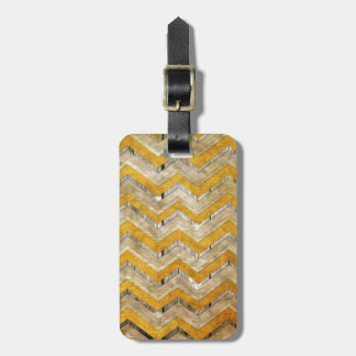 Awesome cool chevron zigzag pattern wood marble luggage tag