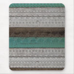 Awesome cool trendy Aztec geometric pattern Mousepads