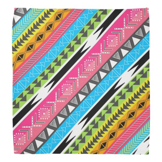 Awesome Cool trendy Aztec tribal Andes bright neon