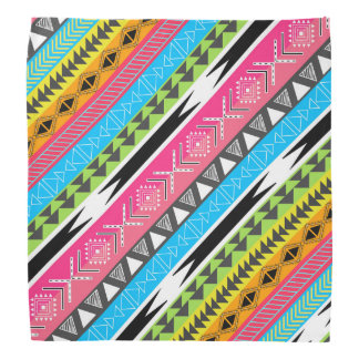Awesome Cool trendy Aztec tribal Andes bright neon Bandanas