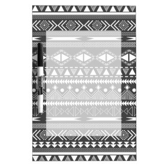 Awesome Cool trendy Aztec tribal Andes pattern Dry Erase Board