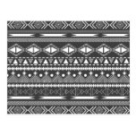 Awesome Cool trendy Aztec tribal Andes pattern Postcard