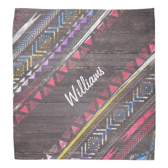 Awesome Cool trendy Aztec tribal Andes wood Bandanas